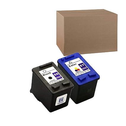 HP 56 57 C6656 A C6657 A, compatible- negro y color Cartuchos de ...