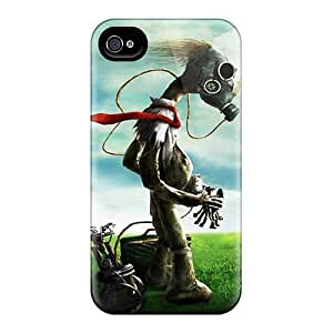 Shock-Absorbing Hard Cell-phone Cases For Apple Iphone 4/4s (XWp21133JlVP) Custom Nice Gas Mask Series