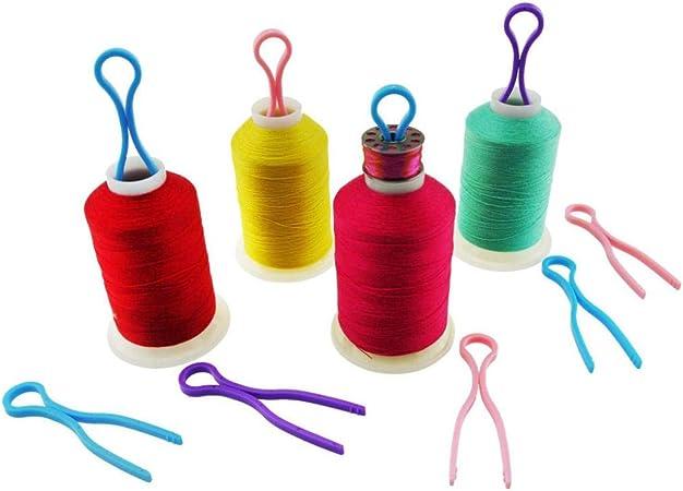 Gaddrt Pinzette colorate in plastica per le bobine della macchina da cucire 60Pcs