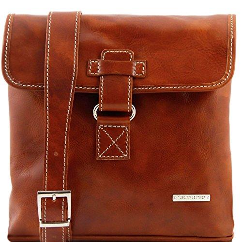 Tuscany Leather - Andrea - Borsello in pelle a tracolla Nero - TL9087/2 Miele