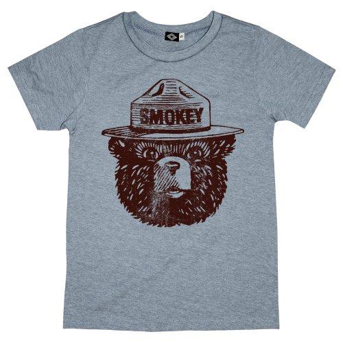 Hank Player 'Official Smokey Bear' Men's T-Shirt (M, Heather Grey)