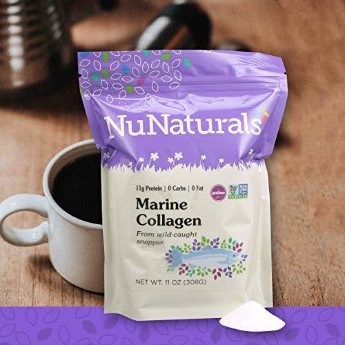 (NuNaturals Marine Collagen, Wild Caught, Non-GMO Project Verified Proteins (11 oz))