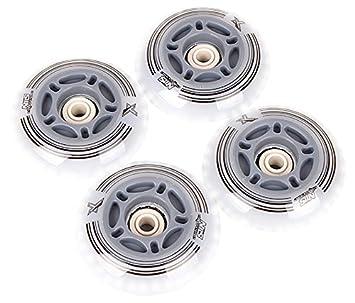Nils Extreme LED ruedas ruedas Bombilla en línea & completo Juego de ruedas para patines en