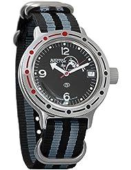 Vostok Amphibian Automatic Mens WristWatch Self-winding Military Diver Amphibia Case Wrist Watch #420634 (black...