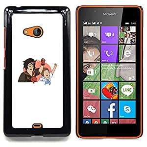 "Qstar Arte & diseño plástico duro Fundas Cover Cubre Hard Case Cover para Nokia Lumia 540 (King Of The Hills"")"