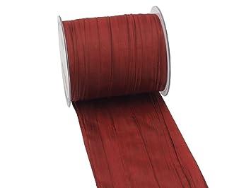 Unbekannt 15m Fripe Taft Bordeaux Rot Tischband Tischdeko Kommunion