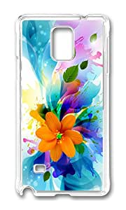 Samsung Note 4 Case,VUTTOO Cover With Photo: Bouquet Of Colors For Samsung Galaxy Note 4 / N9100 / Note4 - PC Transparent Hard Case