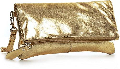 x CNTMP or 25 Sac Cuir Effet Sac x Main Pochette 13 cm porté 2 Soirée Main Femme Métallique à Clutch 5 xr64ROwqx