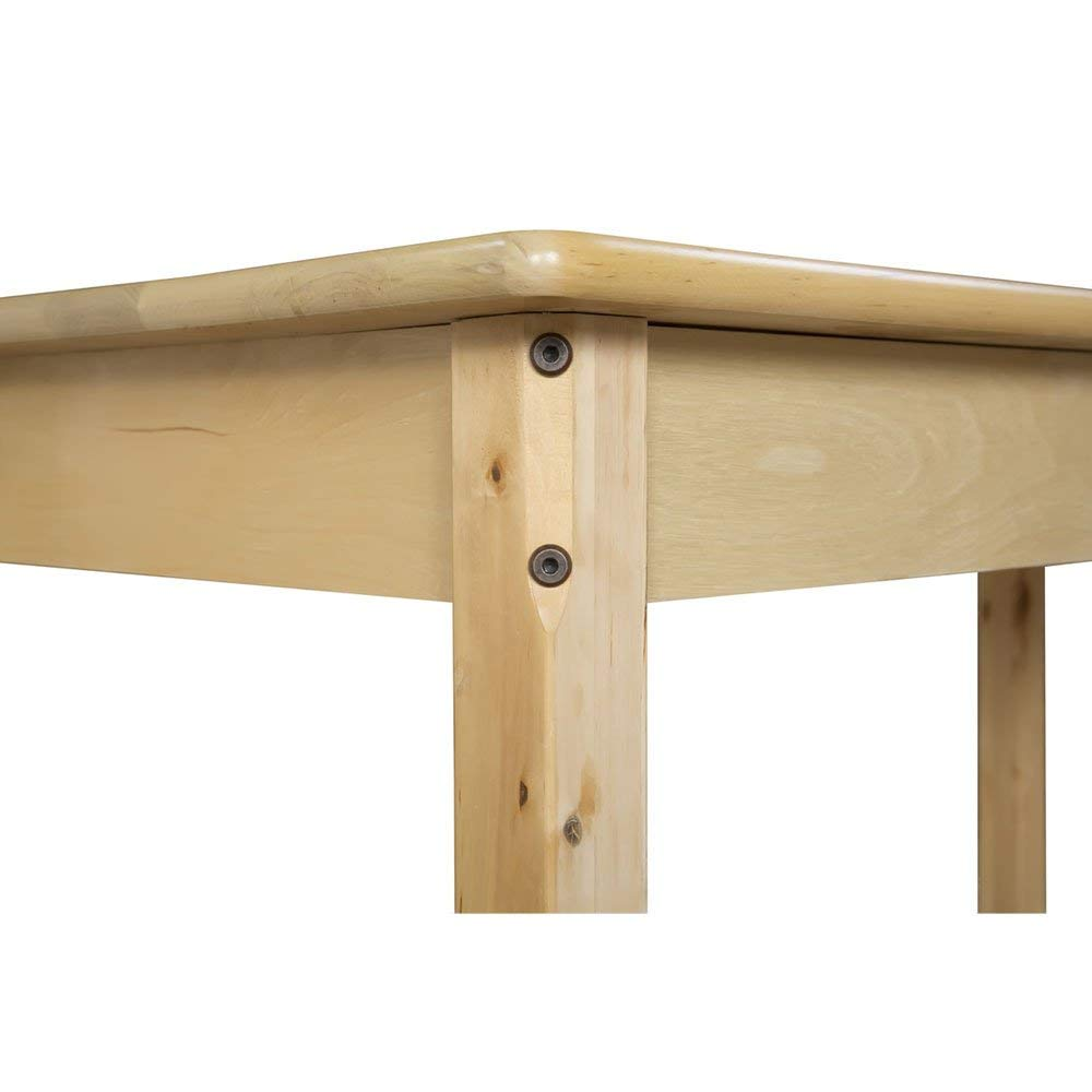 Amazon.com: Mesa de madera de haya maciza rectangular – 36 ...