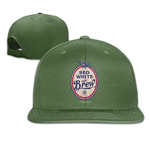 (Yishuo Mens Red, White And Brew Casual Style Golf ForestGreen Cap Adjustable Snapback)