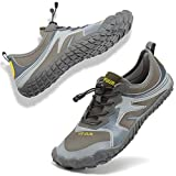 VIFUUR Mens Womens Aqua Shoes Quick Dry Water Shoes Outdoor Indoor Shoes Boating Kayaking Diving Beach Swim Toe Grey 44