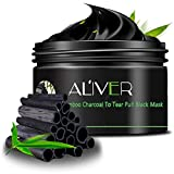 Image of AL'IVER Black Mask Natural Blackhead Remover Gel Charcoal Peel off Mask Challenge, 3.4 Ounce