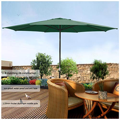 13 Ft. Outdoor Patio Market Garden Table Umbrella,13 feet in Diameter, The Largest in The Market. US Delivery (Green)