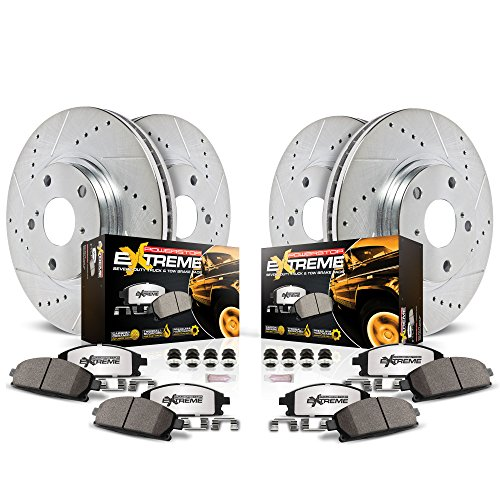 Power Stop K2798-36 Front & Rear Z36 Truck and Tow Brake Kit by Power Stop