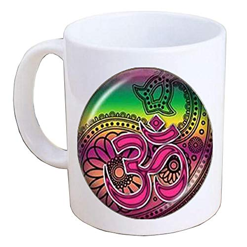 Om Aum Ohm Buddha Coffee Mug Namaste Mug Yoga Jewelry Symbol Mug Yoga Jewelry, Spiritual Coffee Mug, Inspirational Jewelry, Yoga Mug-MT176