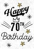 Happy 70th Birthday: Keepsake Journal Notebook