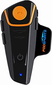 Motorcycle Bluetooth Headset FreedConn BT-S2 Pro Intercom Helmet Communication System for Motorbike Skiing Hands-Free Call/FM/ MP3/ Range 800M/ 3 Riders Pairing/Walkie Talkie Supported/ Usable When Charging (Single Pack for Hard Mic Cord)