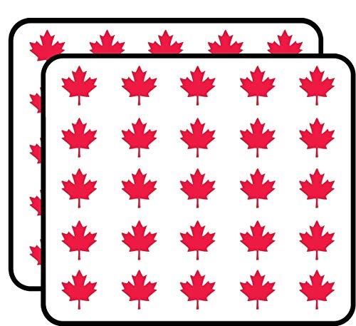 Maple Leaf Shaped (Canada Canadian Flag Logo) Sticker for Scrapbooking, Calendars, Arts, Kids DIY Crafts, Album, Bullet Journals