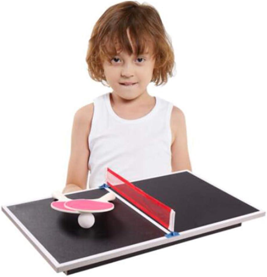 WXH Mesa de Ping Pong compacta, Mini Tenis de Mesa Multiusos con ...
