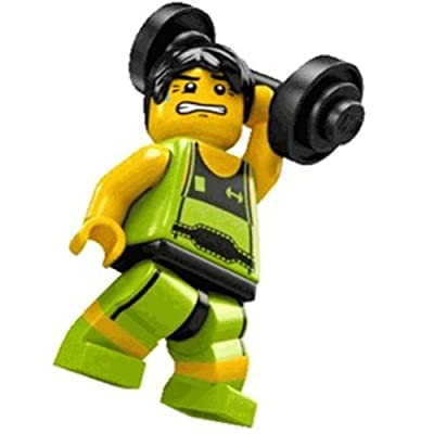 LEGO Minifigure Collection Series 2 LOOSE Mini Figure Weightlifter: Toys & Games