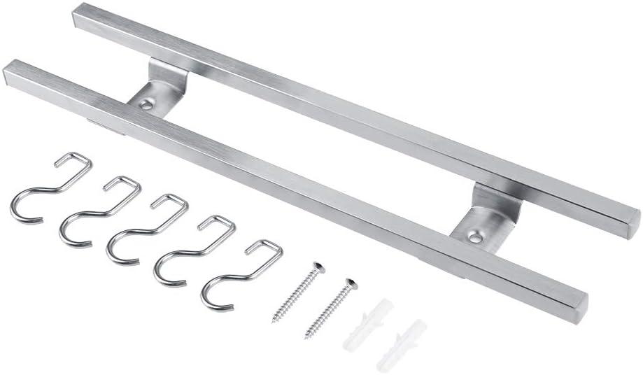 30cm Aufee Soporte magn/ético para Cuchillos Soporte para Cuchillos magn/ético montado en la Pared de Acero Inoxidable con Barras Dobles Soporte de Almacenamiento de Utensilios de Cocina