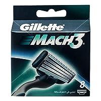 Gillette Mach 3 Lamette di Ricambio per Rasoio, Confezione da 8