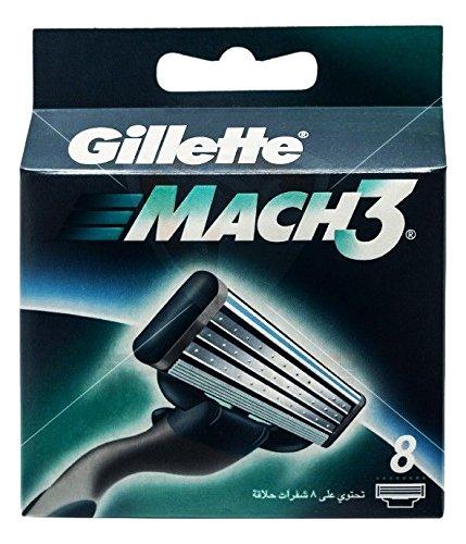 Gillette Mach3 - Cuchillas de recambios, 8 recambios: Amazon.es: Salud y cuidado personal
