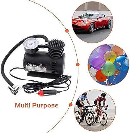HEAVY DUTY POWERFUL 300psi 12V ELECTRIC CAR TYRE INFLATOR AIR COMPRESSOR PUMP