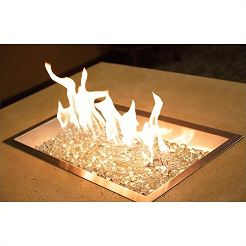 Outdoor GreatRoom Company D.I.Y. 12″ x 24″ Rectangular Crystal Fire Pit Burner Review