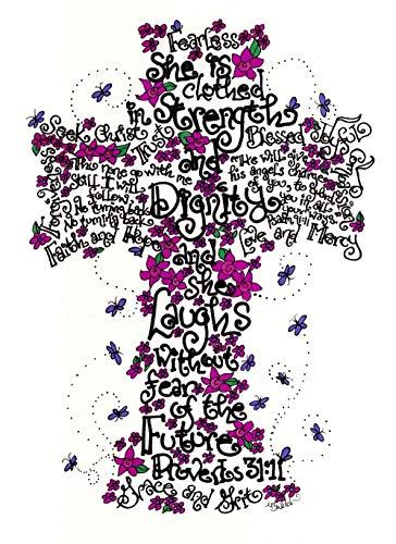 Fearless Cross 5x7 - Confirmation Gift for Girls