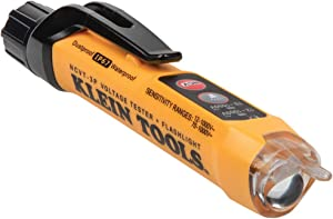 Klein Tools NCVT3P Dual Range Non-Contact Voltage Tester with Flashlight, 12-1000V AC