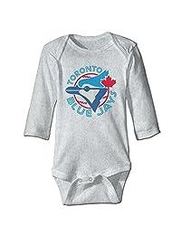 Mlb Toronto Blue Jays Logo Romper Jumpsuit Ash Kids Baby