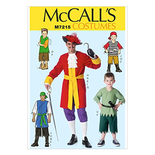 McCall's Patterns M7215 Men's/Children's/Boys' Costumes Sewing Template, MEN (M Template For M&m Costume)