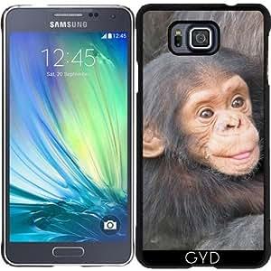 Funda para Samsung Galaxy Alpha - Bebé Chimpancé 2 by More colors in life