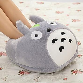 f7025343ade5 sweetTIME(tm) Totoro Warm Home Cartoon Plush Slippers Fashion Cotton Shoes  (Bag big Feet slippers)  Amazon.co.uk  Toys   Games