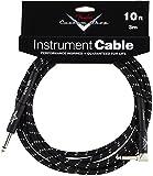 Fender Custom Shop Performance Series Cable, Black Tweed, 10 foot (3m), Straight Jack to Angled Jack