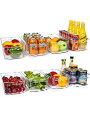 HOOJO Refrigerator Organizer Bins
