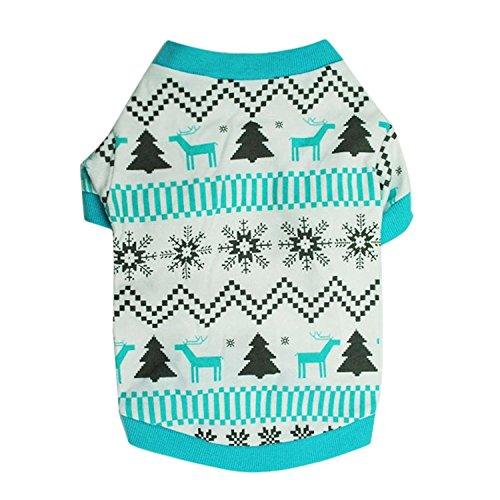 Better Annie Puppy Clothes, Doggy Outfit Printed Snow Fawn Interlock Christmas Pet Shirt as pictureLarge