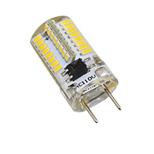 Reelco 6-Pack Mini G8 T4 Base Bi-pin LED 3Watt Dimmable LED Light Bulb AC 110V-120V Warm white 2700K-3000K Equivalent 20W-25W Halogen Bulb