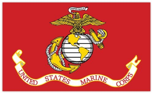 Marine Flag Corps Decal (United States Marine Corps Marines flag sticker decal 5
