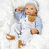 Paradise Galleries Newborn Baby Doll, Teddy Bear Twin Aidan, 16