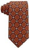 Scott Allan Mens Geometric Necktie - Chocolate Brown/Blue