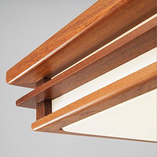 Ywyun Lampe de plafond en bois rouge moderne, lampe de ...