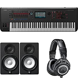 Yamaha Montage7 Synthesizer Workstation with Studio Monitor Speaker Pair & Headphones from Yamaha PAC