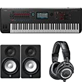Yamaha Montage7 Synthesizer Workstation with Studio Monitor Speaker Pair & Headphones