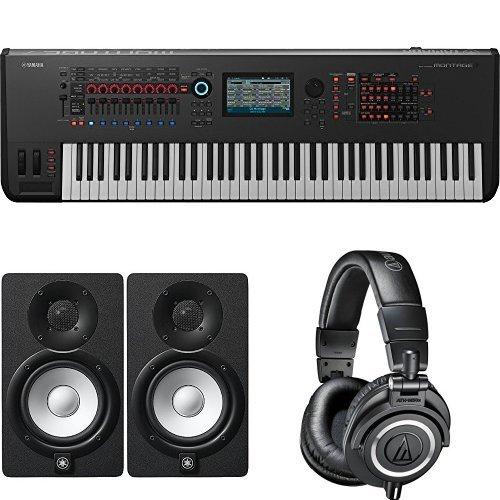Yamaha Montage7 Synthesizer Workstation with Studio Monitor Speaker Pair & Headphones by Yamaha PAC