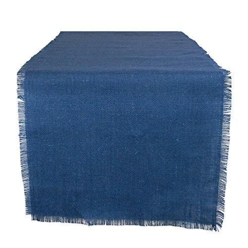 Blue Rustic Desk (DII 100% Jute Rustic Vintage Table Runner for Parties BBQ's Everyday & Holidays Use, 15x110