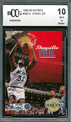 1992-93 Skybox #382 Shaquille O'Neal Rookie Card Graded BCCG 10 (Shaquille Frame Oneal)