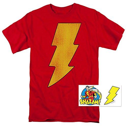 Captain Marvel Shazam Lightning T Shirt