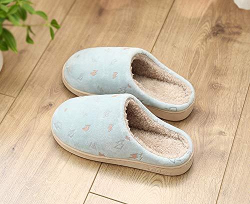 Stay Slippers Slip Sandales Coton Warm Chaussures extérieur Hiver et pour Hommes Automne Anti en Slippers Bleu Hommes Léger Warmth Femmes Femmes Accueil Intérieur Snone x6Fq7wEOZZ